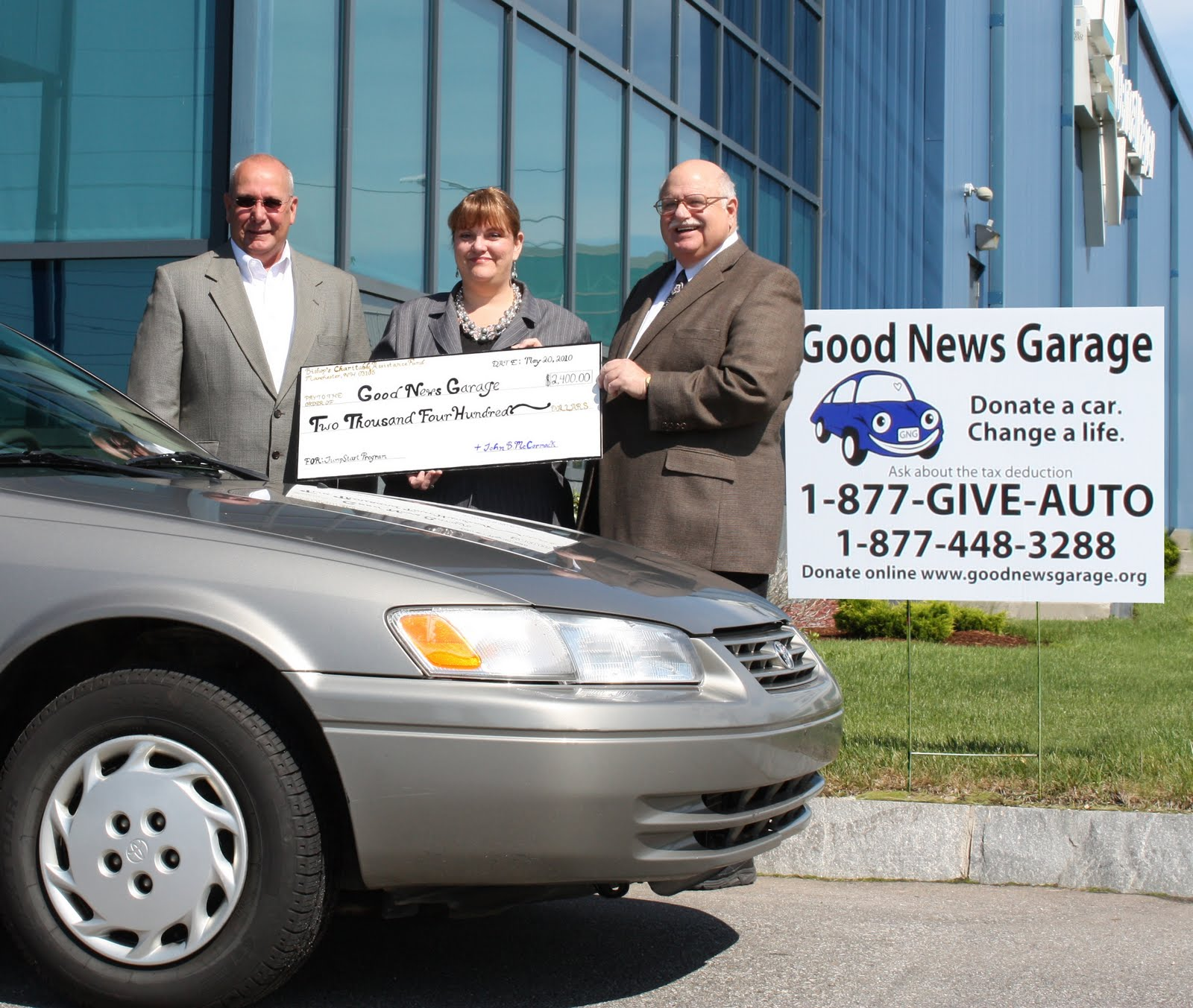 Donate a car good news garage as seen on the today Sutherland garage