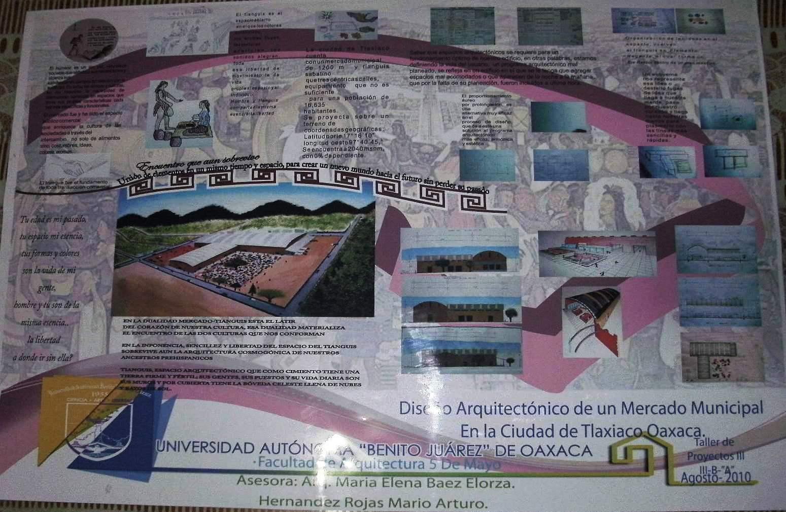 DISEÑO ARQUITECTÓNICO DE UN MERCADO MUNICIPAL, EN TLAXIACO, OAXACA ...