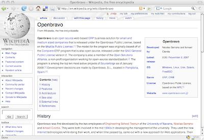 Openbravo in the Wikipedia