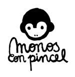 Monos con pincel