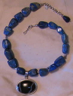 sodalite, agate and sterling silver