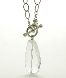 clear quartz and sterling silver
