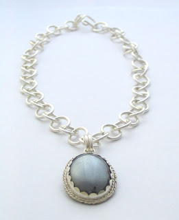 hematite and sterling silver