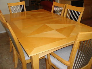 brooks moving sale maple dining room table set w 6