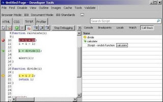 Debugging jscript - Call stack pane