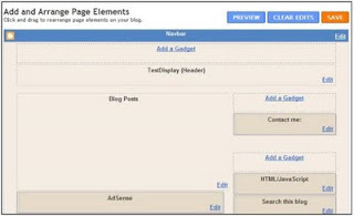 Add Page element window after new widget is added to blogger header