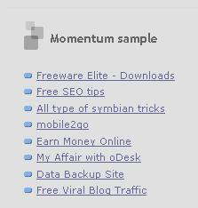 Momentum sample list