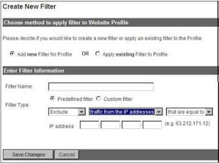 Create new filter in google analytics