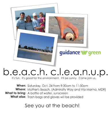 Guidance Green Beach Cleanup - Saturday, October 24 at Mother's Beach