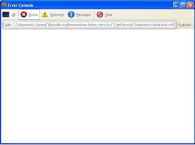 Mozilla Firefox Error Console