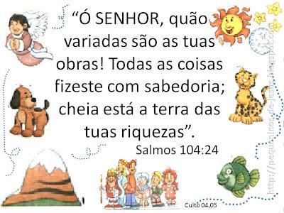 Pequeninos De Jesus Versículos Para Culto Infantil