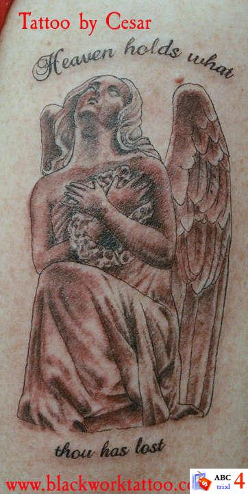 Tattoos Of Heaven. Angel Heaven Tattoos Desaign