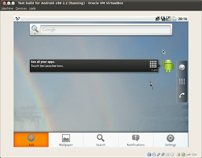 Android-x86 2.2 (Froyo-x86) on virtual machine