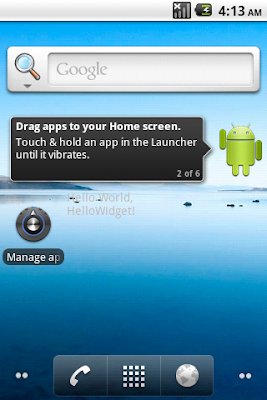 App Widget is added