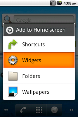 To add a widget on Home Screen