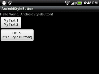 custom Button with declare-styleable