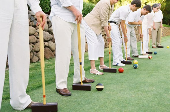 wedding croquet game