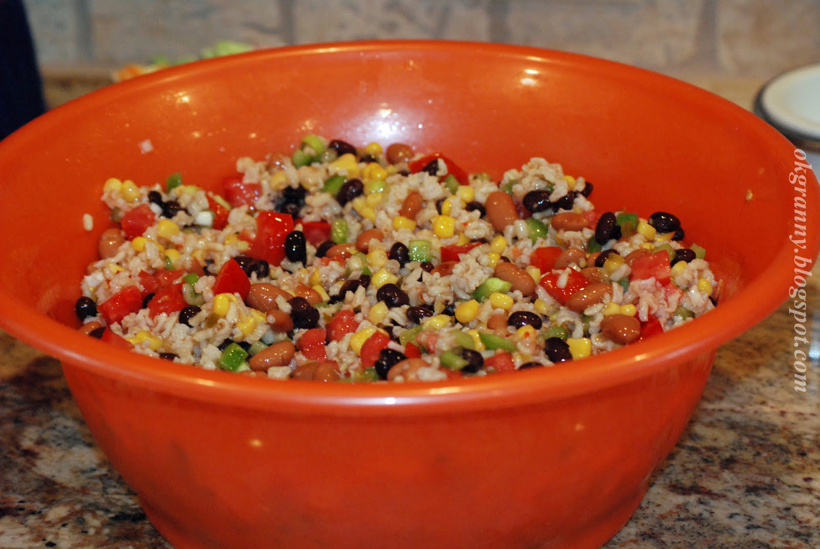 An Oklahoma Granny: Mexican Bean and Rice Salad - My Way