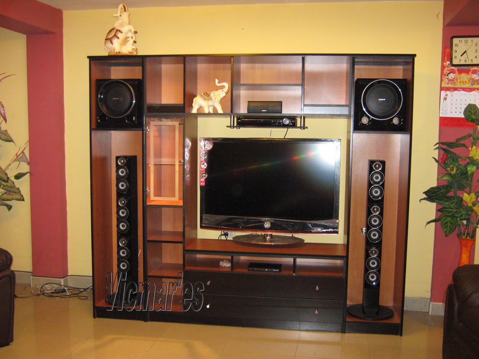 Mueble de entretenimiento muebles vicmares for Mueble de entretenimiento