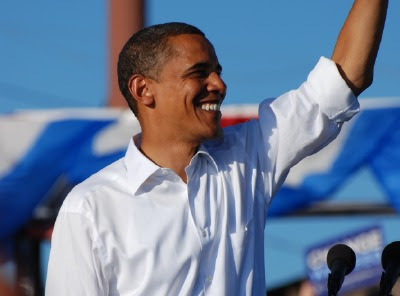 Barack Obama at a rally in Pueblo, Colorado