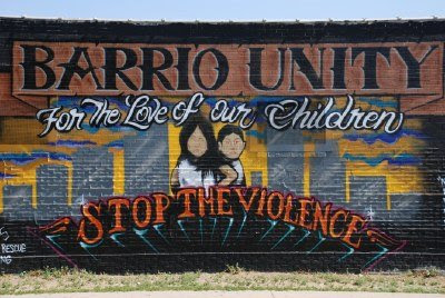 Barrio Unity Mural in Denver on Hazel Court at Kentucky