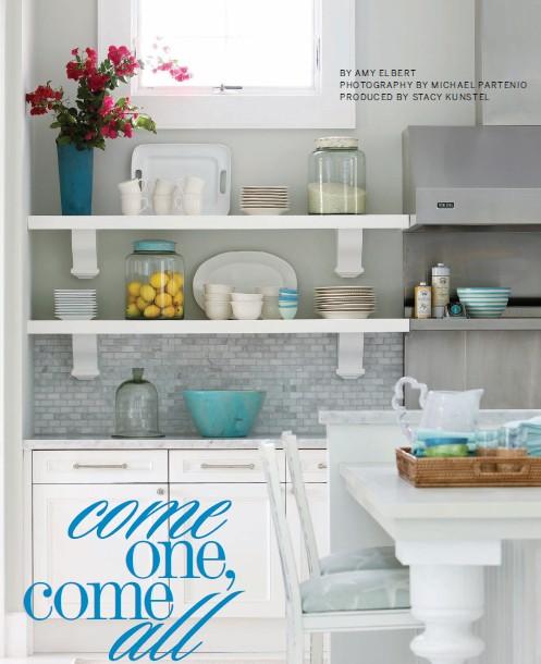 Beach Cottage Kitchen Kitchen: Gold Cage: Beach Cottage Kitchen