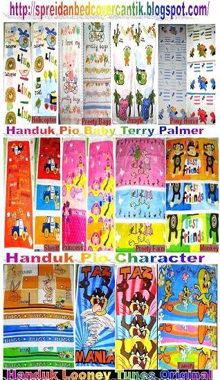 Handuk Pio Baby dan Handuk Looney Tunes Original
