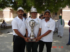 Karachi President, Secretary & STA Secretary With Winning Trophy for Sind games 2009