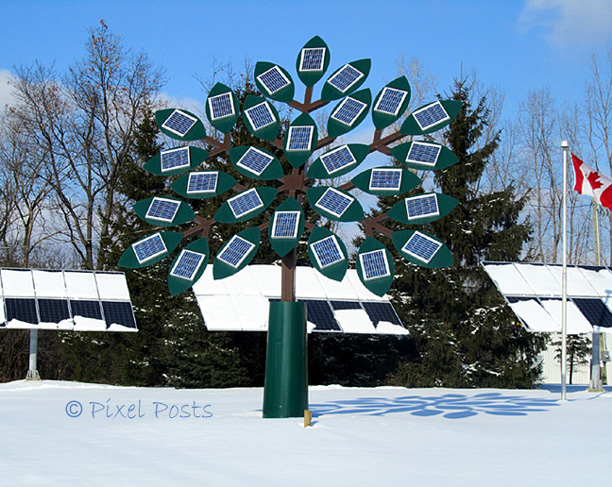 Pixel Posts: Solar Tree - My World Tuesday