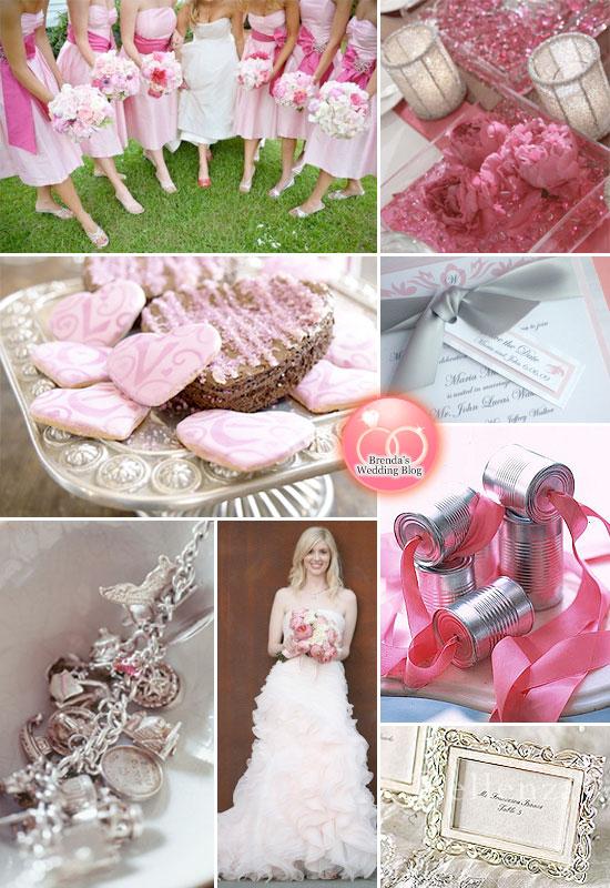 Down The Aisle Weddings Events Color Palette Light Pink Silver Black