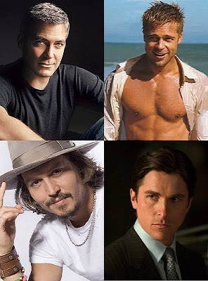 George Clooney, Brad Pitt, Christian Bale and Johnny Depp