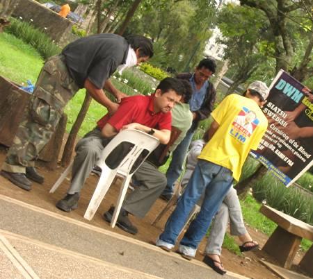 massage at Burnham Park in Baguio City