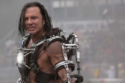 Mickey Rourke trying hard in IRON MAN 2