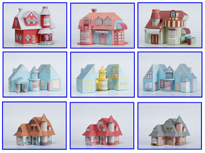 3D Paper House Patterns http://steenwegadvies.nl/uqo/mp-beitm/