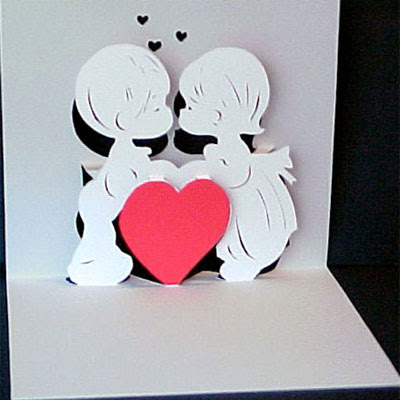 couple valentine pop up card