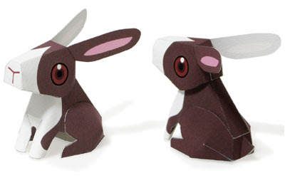 Cute bunny paper toy