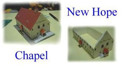 chapel building paper model