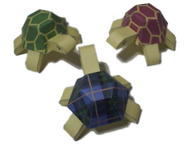 Cute turtle paper toy