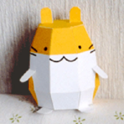 cute hamster paper toy