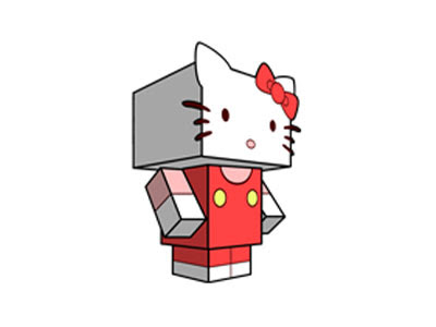 Hello kitty paper craft toy