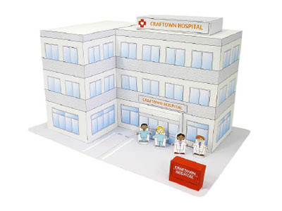 hospital papercraft for kids