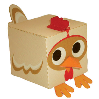 Easy chicken papercraft