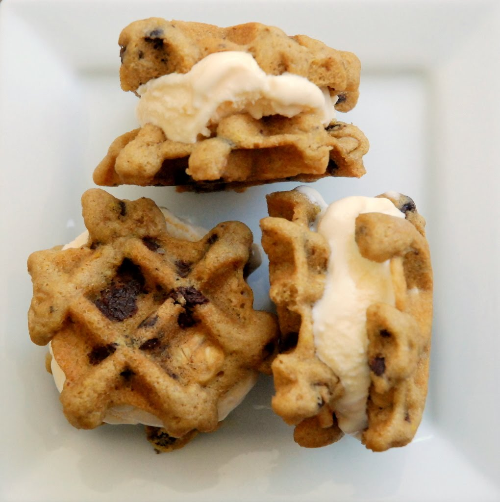 Oatmeal Chocolate Chip Waffle Cookie Sandwiches (printable recipe here ...