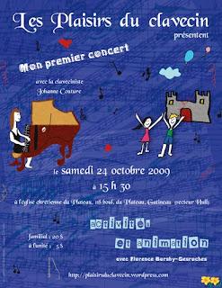conception et illustration affiche publicite concert pour enfants