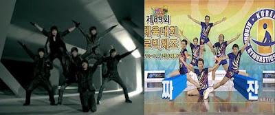 La coreografía de Heartbeat de 2PM ha sido copiada de Infinity Challenge? 20091114_2pminifinty_1