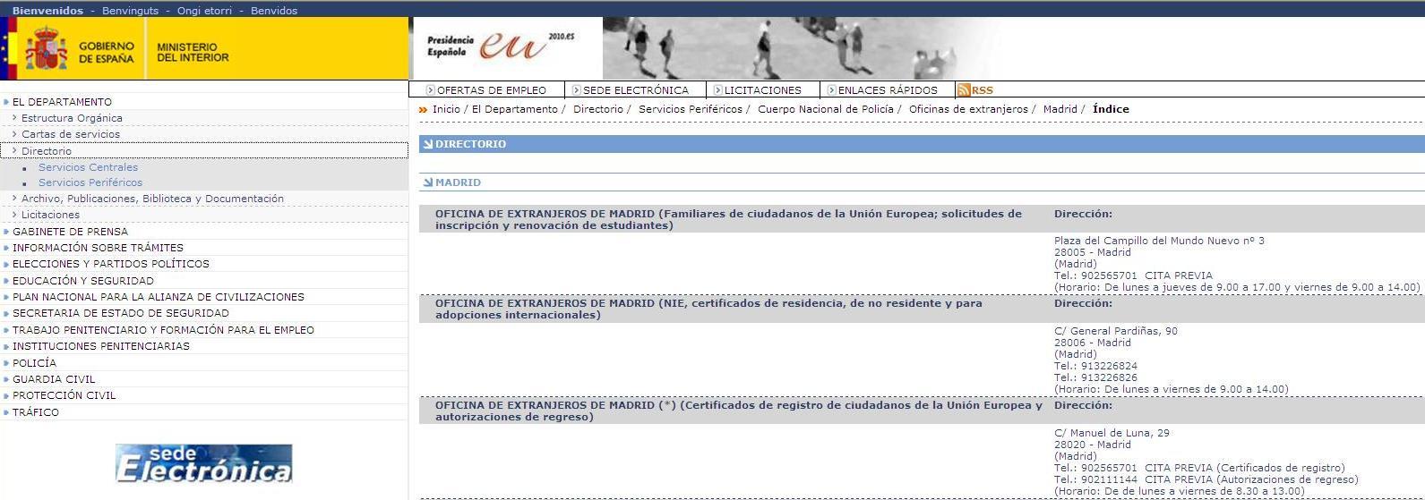 Tugasmadrid informa o para portugueses em madrid www for Oficina de extranjeros madrid