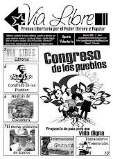 Primera edición del periodico Vía Libre