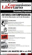 Seminario militante: Autores contemporáneos / Del 23 de Noviembre al 14 de Diciembre