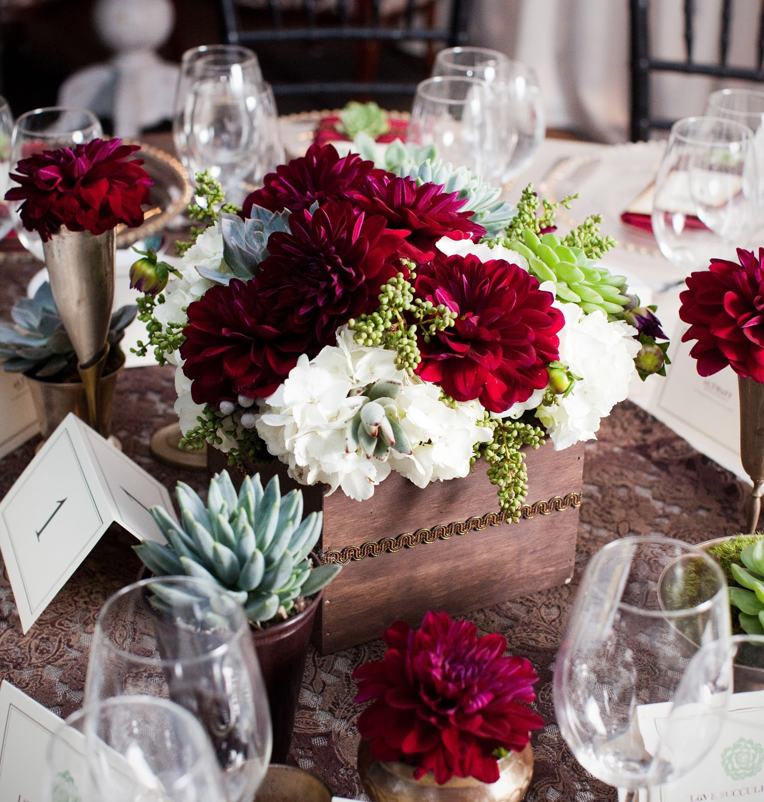 Love succulently a modern winery wedding part santa