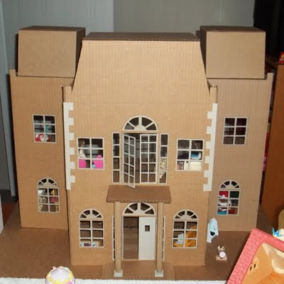 All Things Crafty Homemade Holiday Dollhouse